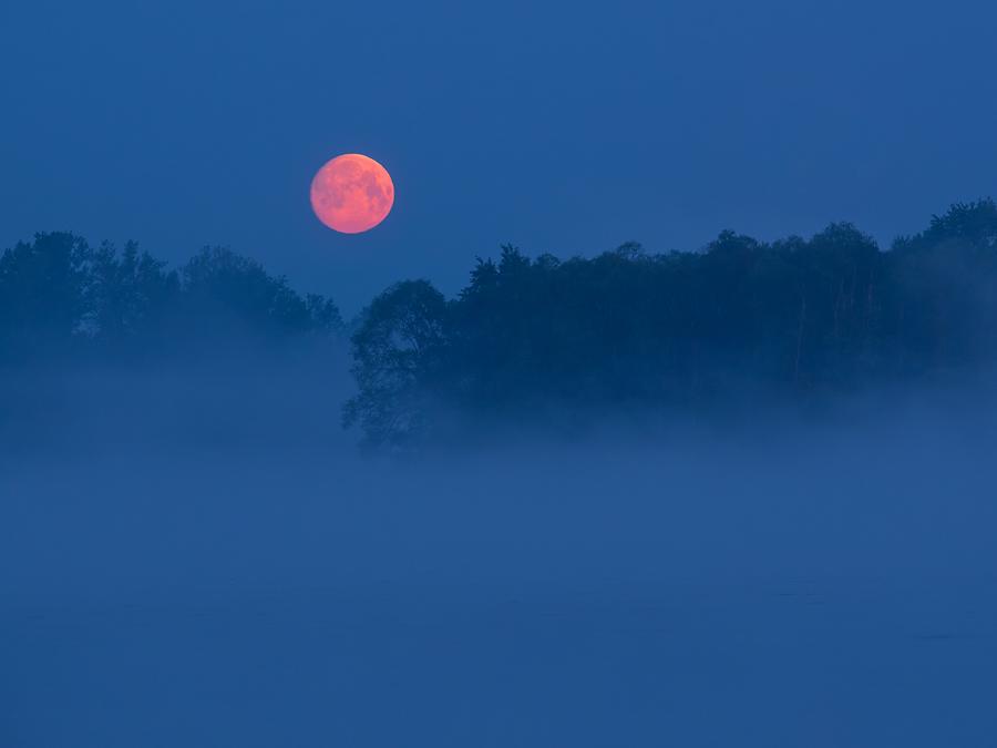 Księżyc, mgła i Wisła.